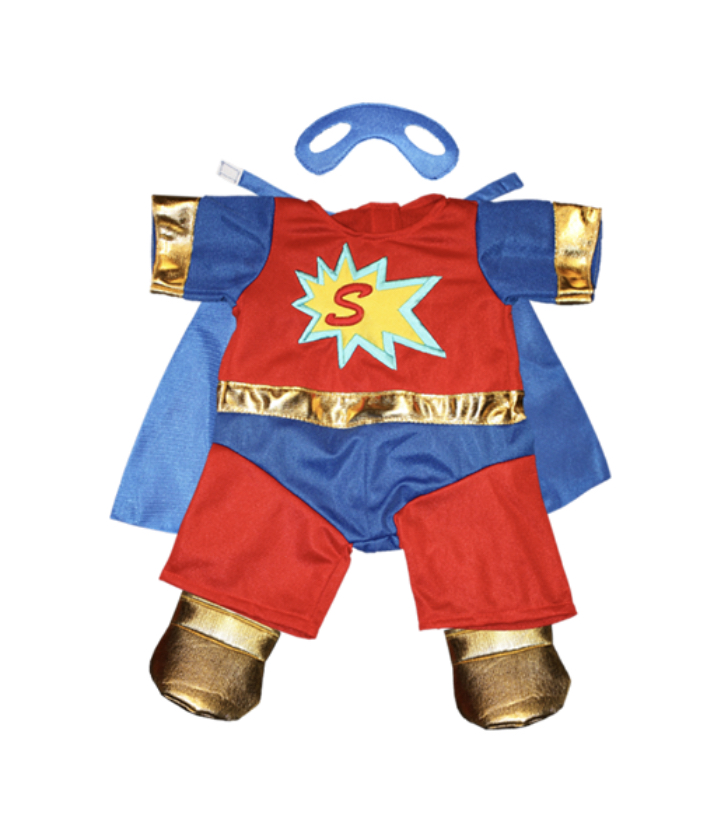 Super ted outfit with cape and mask