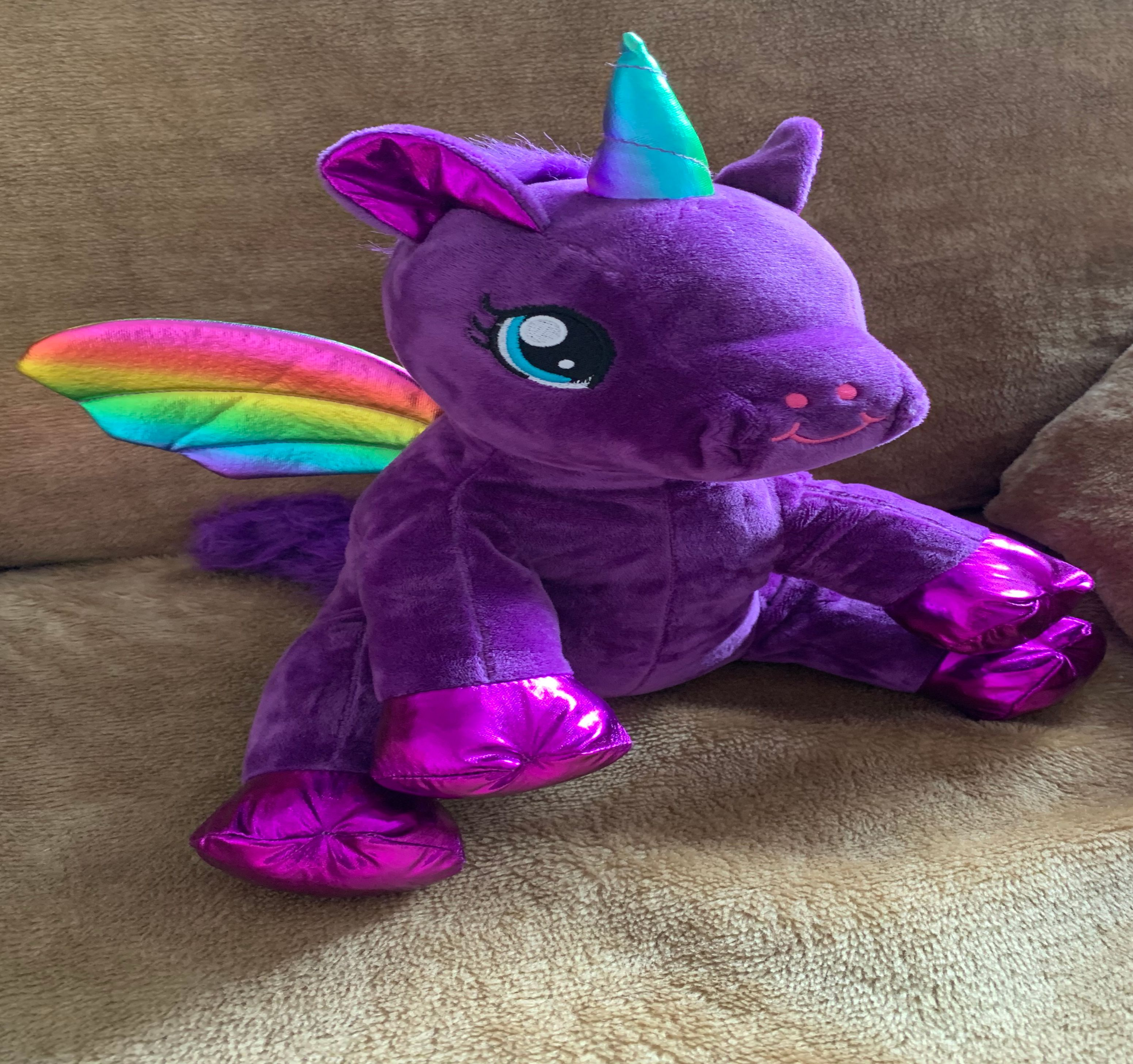 Weighted Purple unicorn with rainbow wings 16