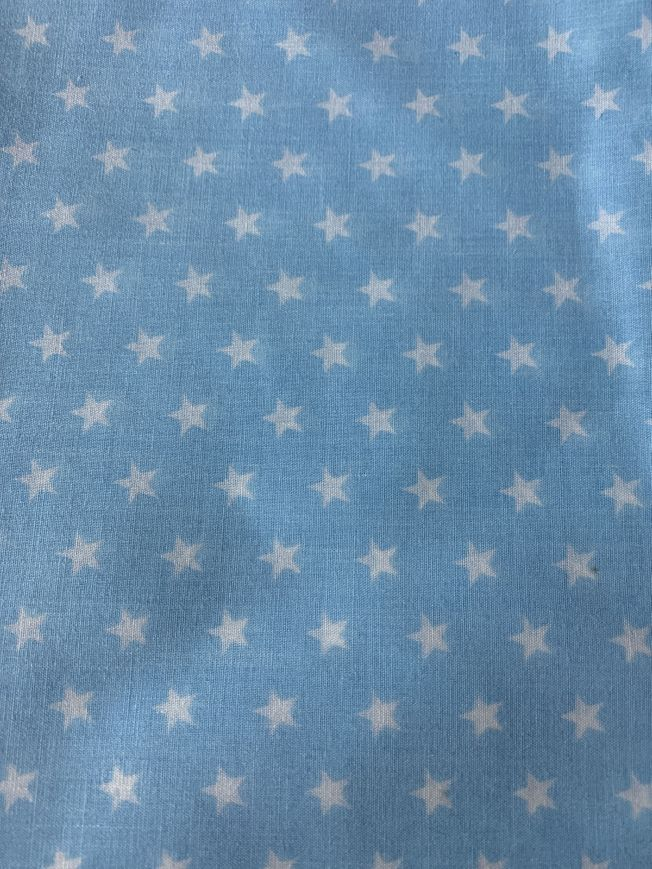 Pale Blue Star Fabric