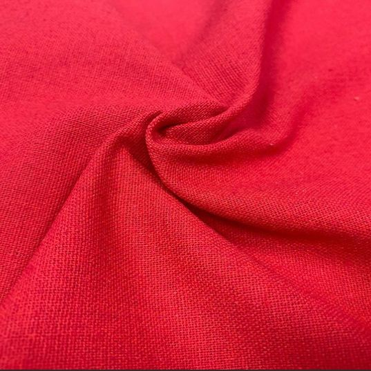 Linen mix red fabric