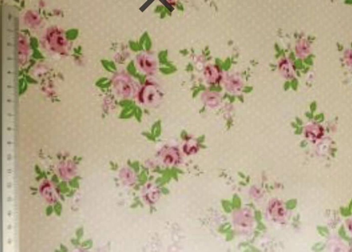 Pink Bouquet PVC fabric