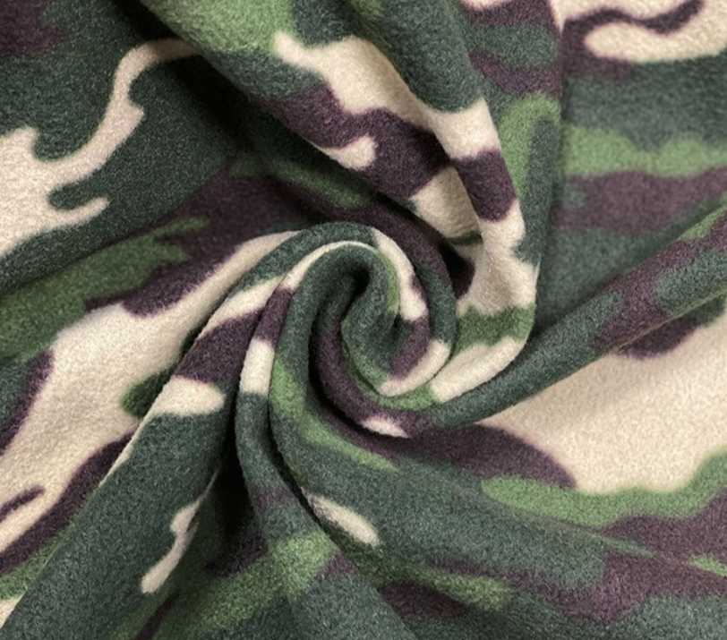 Camoflage fleece - green