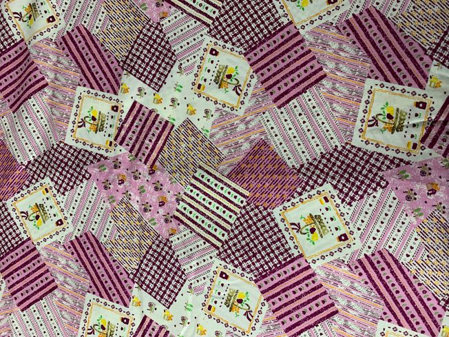 Patchwork Pink cotton